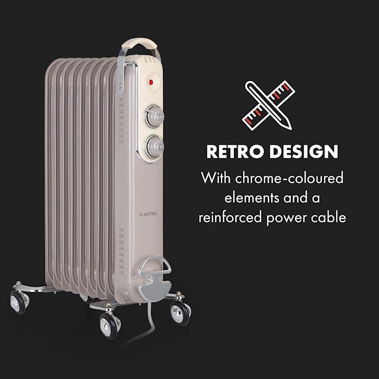 Thermaxx Retroheat, olejový radiátor, 2000 W, kolieska, sivohnedý (taupe) Taupe