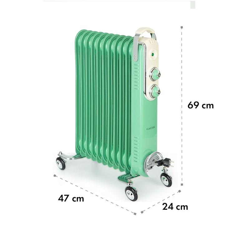 Thermaxx Retroheat, olejový radiátor, 2500 W, kolieska, zelený Zelená
