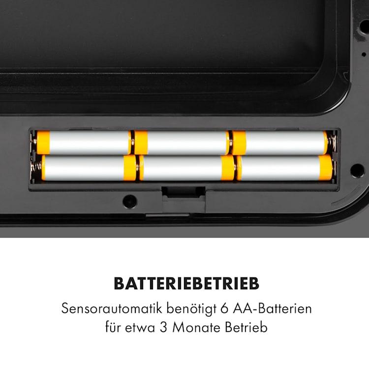 Touchless Black Stainless Steel Müllsammler Sensor 72L 4 Behälter ABS / PP / Edelstahl schwarz Schwarz