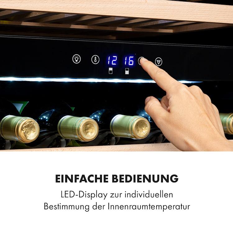 Klarstein Vinsider 41D Built-In Duo Quartz Edition Weinkühlschrank Einbaugerät