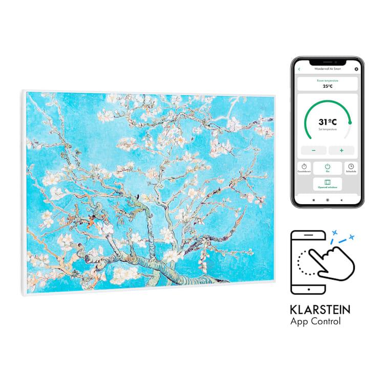 Wonderwall Air Art Smart, infračervený ohřívač, 80 x 60 cm, 500 W, aplikace, mandlový květ 80 x 60 cm / Design: Blossoms