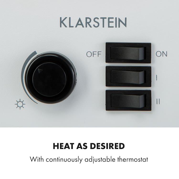 Leoben, elektrický krb, 900/1800 W, termostat, PanoramaView, bílý Bílá