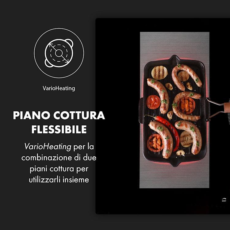 Delicatessa 90 Hybrid, piano cottura a incasso, induzione, 5 zone, 7000W, nero Nero   5 (2x rettangolari, 1x rotondo da 21 cm, 2x rotndo da 18 cm)