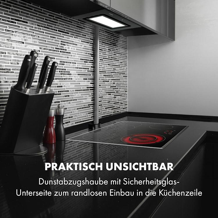 Hektor Brilliant Edition Lüfterbaustein 52 cm 506 m³/h Touch Glas Schwarz