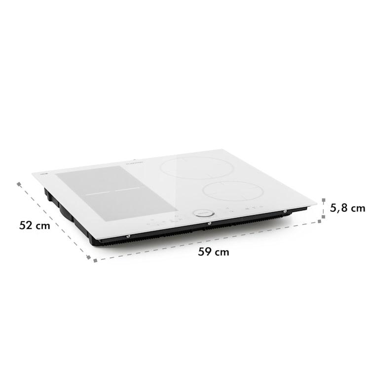 Delicatessa 60 Hybrid, Piano Cottura a Induzione, 4 Zone, 7000W Bianco | 4 (2x rettangolari, 1x rotondo da 21 cm, 1x rotondo da 16 cm)