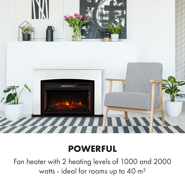 Klarstein, Lucerne Smart, Electric Fireplace, 1000 / 2000W, LED, 18-27 ° C, Weekly Timer
