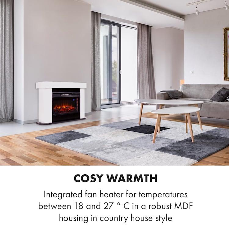 Klarstein, Aargau Smart, Electric Fireplace, 1000 / 2000W, LED, 18-27 ° C, Weekly Timer