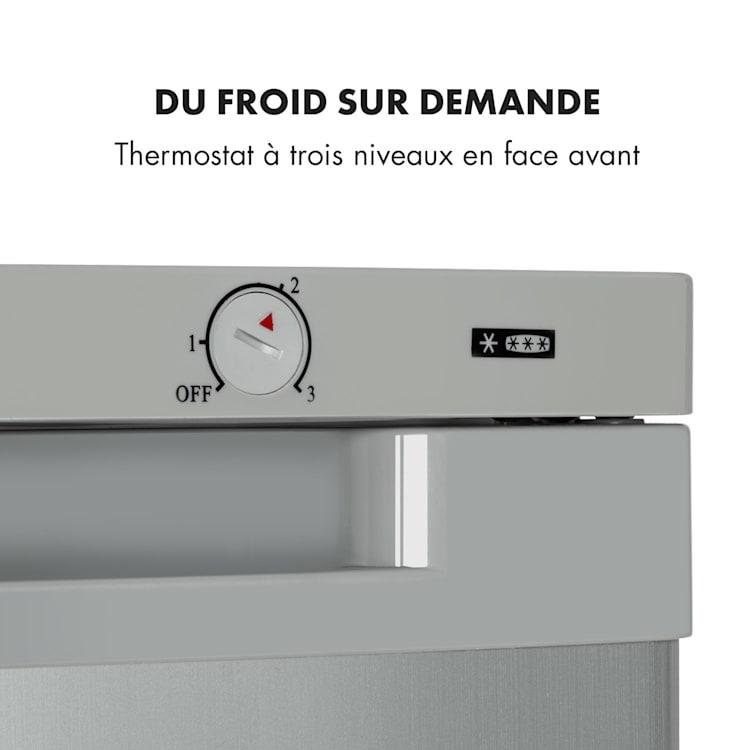 Garfield XXL Eco congélateur 81 l A++ 3 tiroirs thermostat Argent
