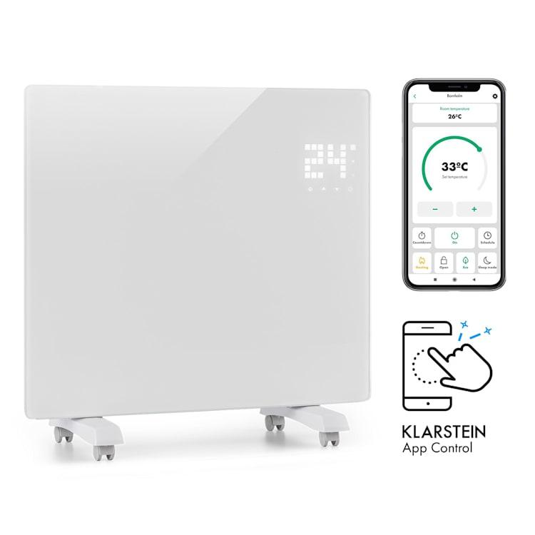 Bornholm Single Smart, grzejnik konwekcyjny, 1000 W, sterowanie przy użyciu aplikacji, biały Biały