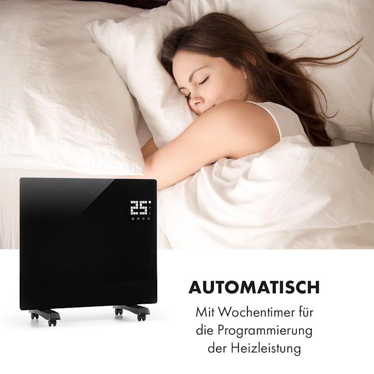 Bornholm Single Smart Konvektionsheizgerät 1000W App-Steuerung Schwarz