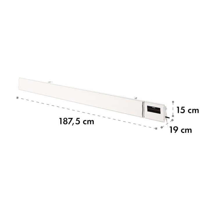 Klarstein Cosmic Beam Smart 30, infracrveni grijač, 3000 W, kontrola primjene, bijela Bijela | 3000 W