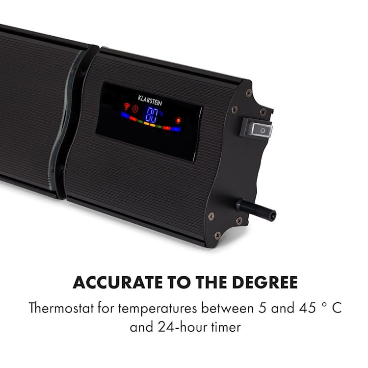 Klarstein Cosmic Beam Smart 24, infracrveni grijač, 2000 W, kontrola primjene, crni Crna   2400 W