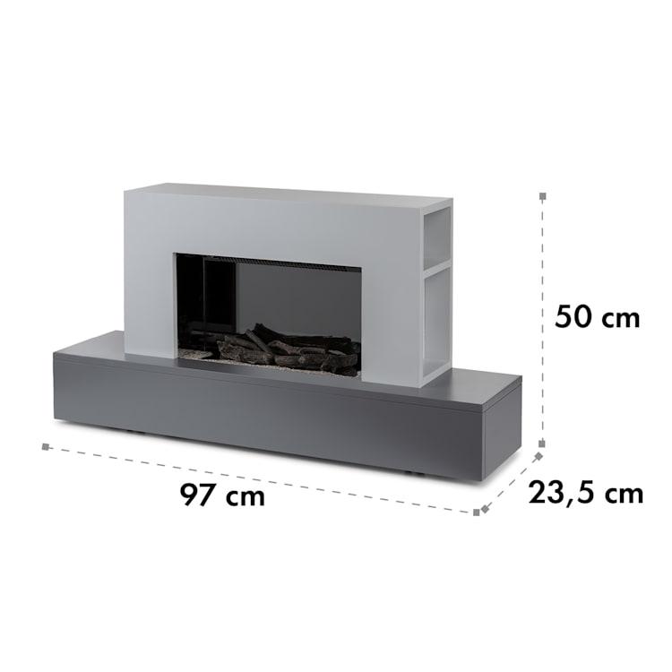 Heat 'n Beat, električni kamin, 900/1800 W, LED, bluetooth zvučnik, siva Siva