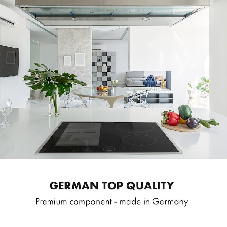 Delicatessa 60 Hybrid Prime, Piano Cottura a Induzione, 4 Zone, 7000W, nero Nero | 4 (2x rettangolari, 1x rotondo da 21 cm, 1x rotondo da 16 cm)