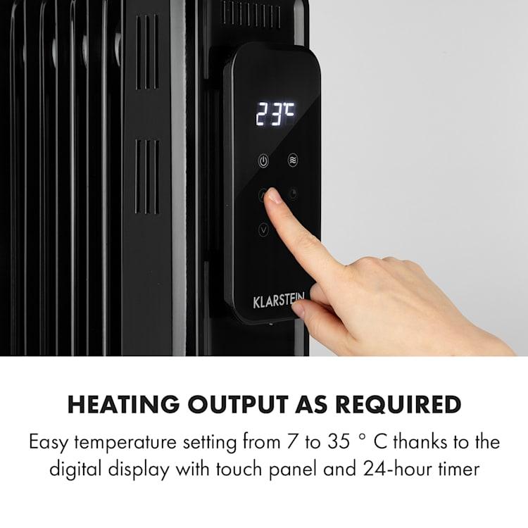 Thermaxx Elevate Smart, olejový radiátor, 2720 W, 7 – 35 °C, 24-hod. časovač, biely Čierna