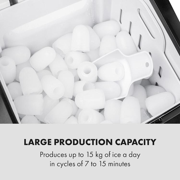 Partytime Máquina de Cubos de Gelo 15kg/24h Aço inoxidável  Preto