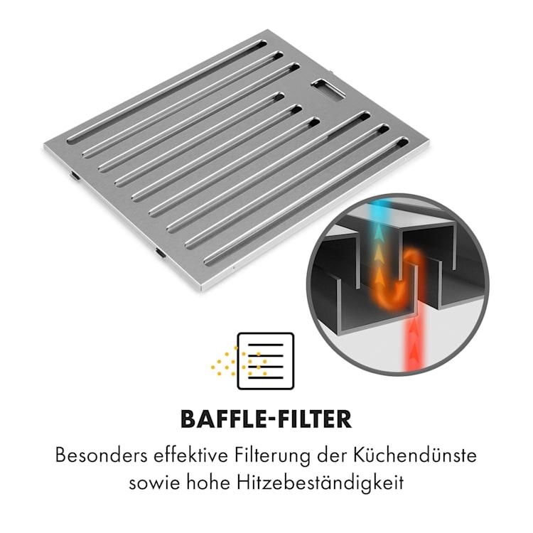 Galina Americana Dunstabzugshaube Baffle-Filter 311 m³/h