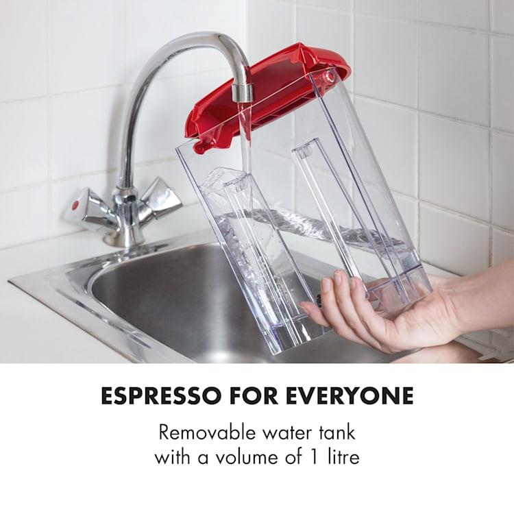 Espressionata Gusto, espresso kavni aparat, 1100W. 15 Bar tlak Rdeča