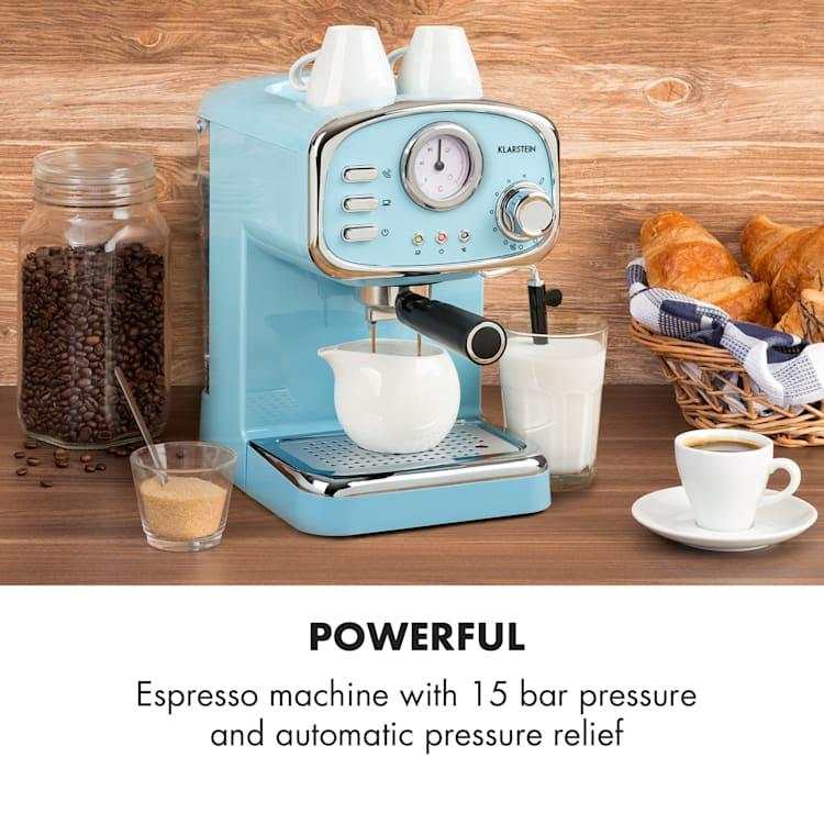 Espressionata Gusto, espresso kavni aparat, 1100W. 15 Bar tlak Pastelno Modra