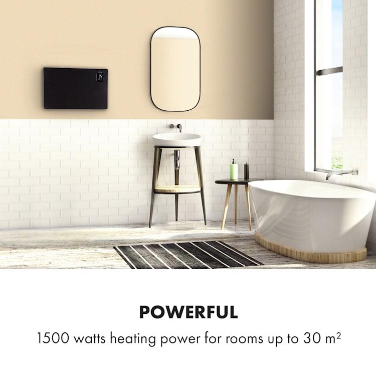 Bansin Smart 1500, konvektor, 1500W, vezérlés alkalmazás segítségével Fekete | 1500 W