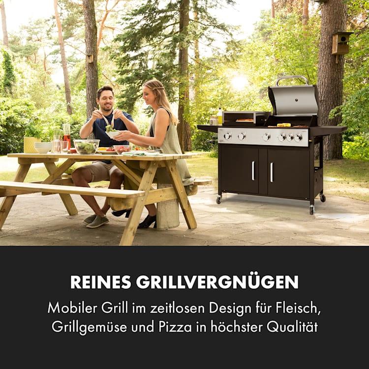 Kingsville XL Kombigrill Gas Pizzaofen 20,5kW 5+1 Brenner