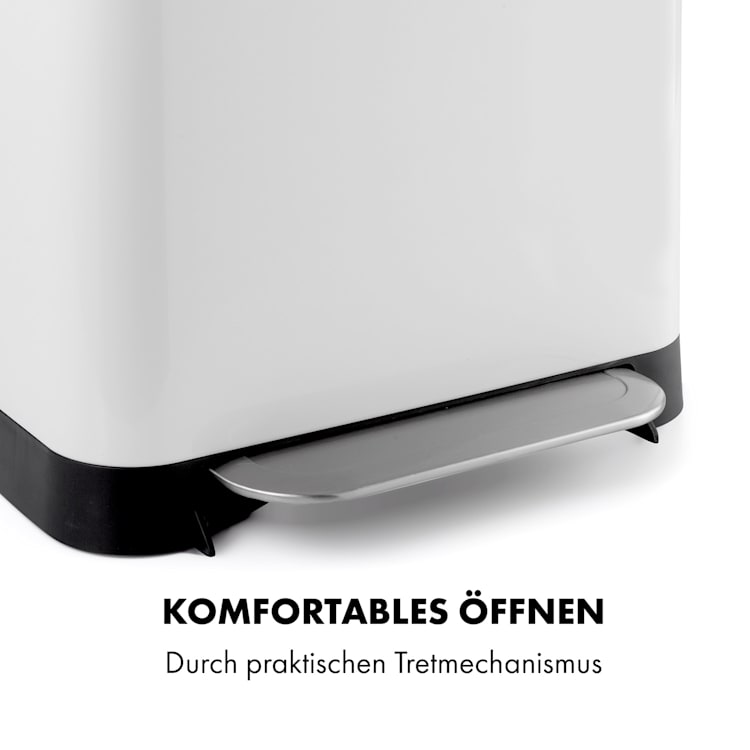 Trash Inn Tretmülleimer 30 Liter Geruchsfilter Edelstahl  30 Ltr