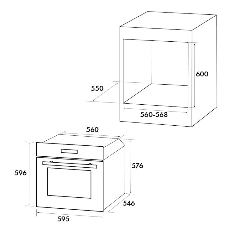 GrandChef, beépített sütő, 2880 W, 10 fűtőfunkció, EEK A