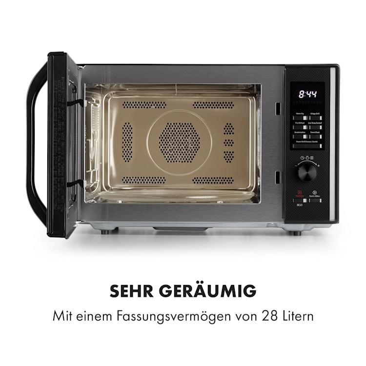 Aero Wave 3-in-1 Mikrowelle Grill Heißluftfriteuse 28 Liter Edelstahl