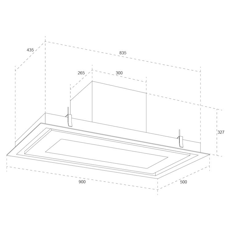 Remy Brilliant Edition, sziget páraelszívó, 90 cm, 618 m³/óra, EEK A, LED, üveg, nemesacél