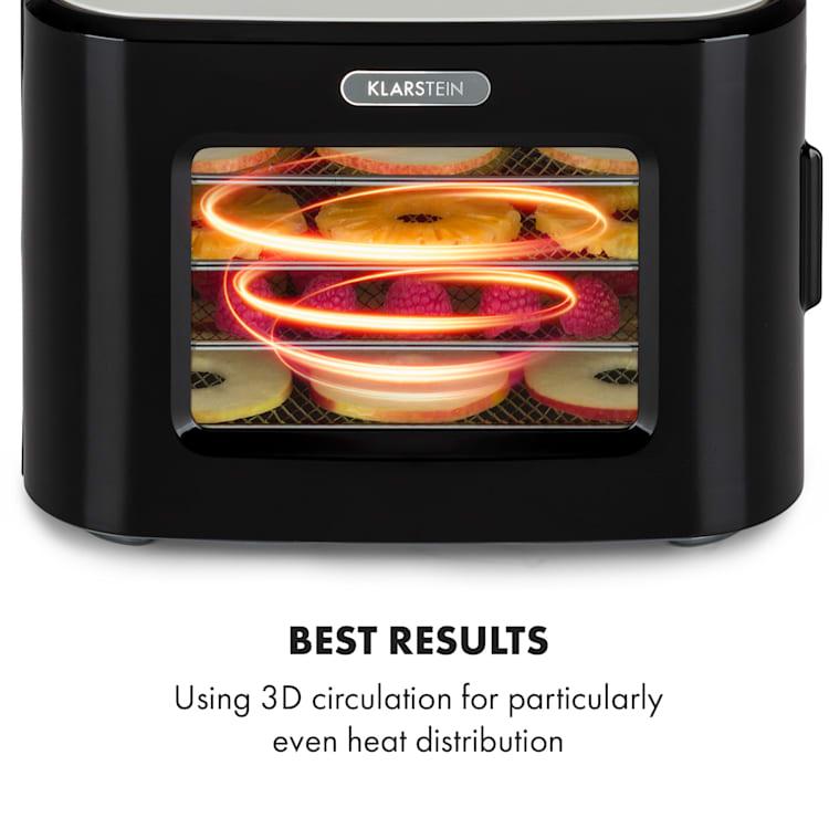 Tutti Frutti, essiccatore, 400W, 35-80°C, 8 litri Nero