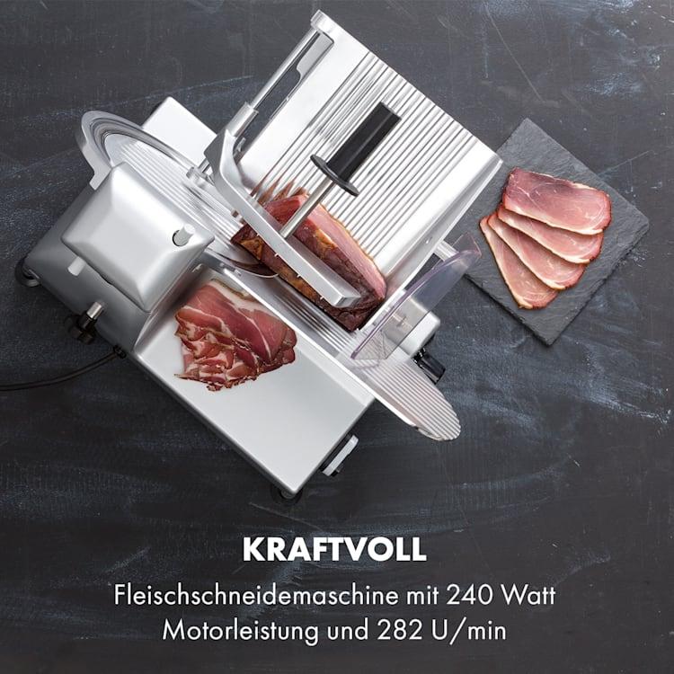Carpaccio Schneidemaschine 240W 0-12mm 200x155mm Edelstahl Silber