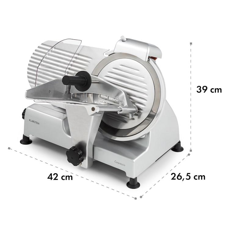 Carpaccio, уред за рязане, 240 W, 0 - 12 mm, 200 x 155 mm, неръждаема стомана Сребърен