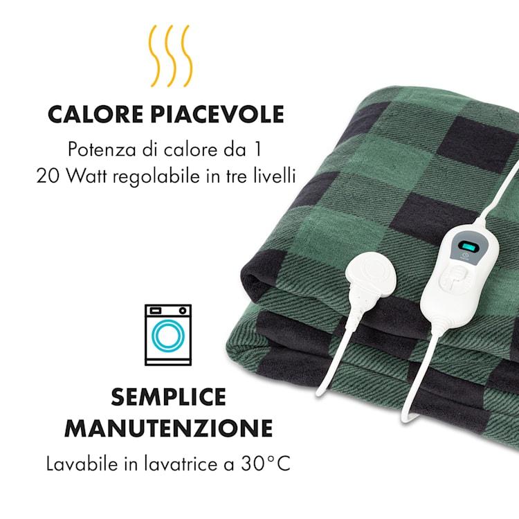 Dr. Watson XXL, Coperta Termica, 200x180cm, Coral Fleece, 120W, rombi grigi Grigio A Fantasia   XXL