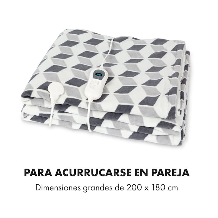 Dr. Watson XXL Manta eléctrica 120W 200x180cm Carolina Cuadrados verdes Verde Estampado | XXL