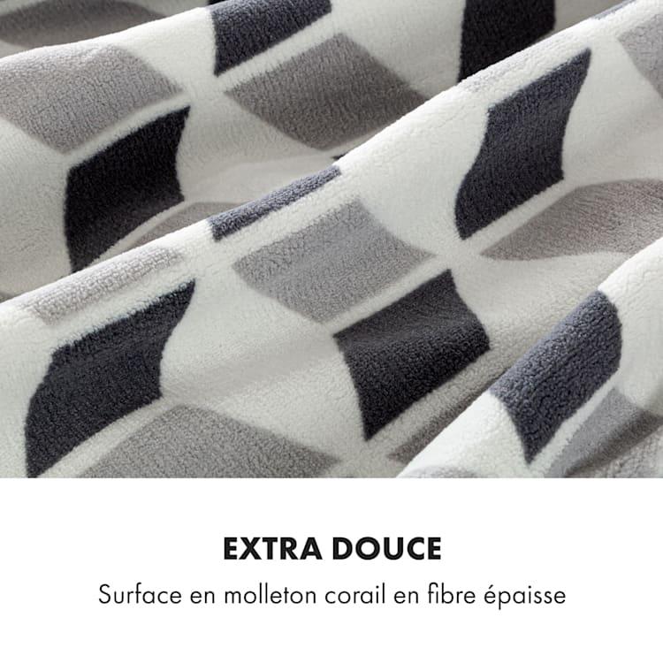 Dr. Watson XXL Couverture électrique 120W 200x180 cm polaire de corail carreaux verts Vert À Motifs | XXL