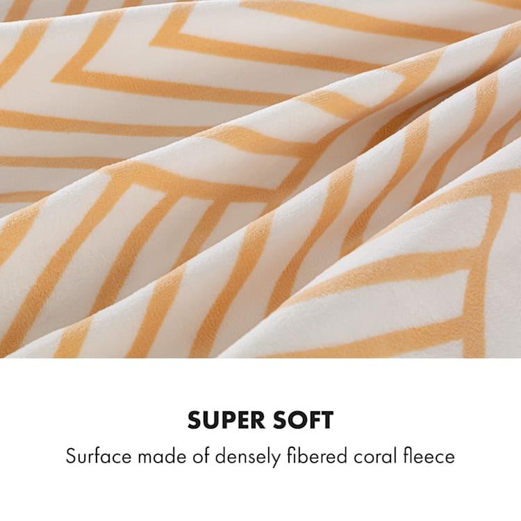 Dr.  Watson XXL, отоплително одеяло, 120 W, 200 x 180 см, coral fleece, бежово, черти Бежов Шарени | XXL