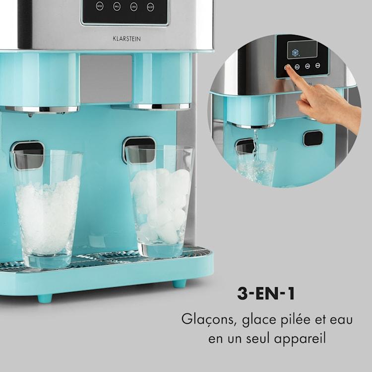 Eiszeit Crush machine à glaçons 2 tailles de glace pilée Bleu Pastel
