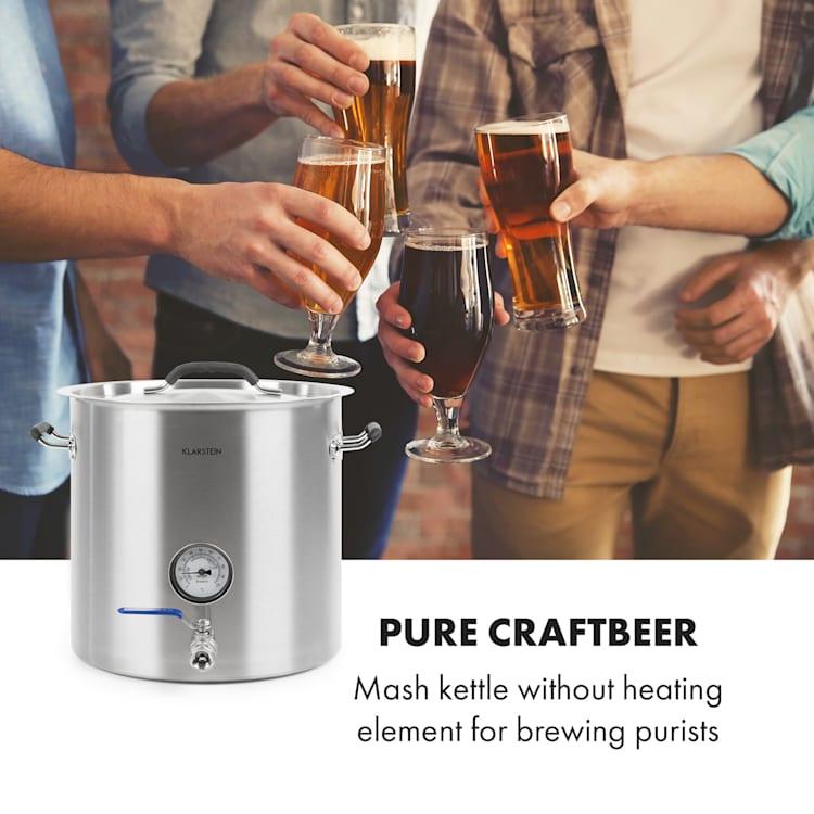 Brauheld Pur 70, sörfőző készülék, 70 liter, fűtőtest nélkül, hőmérő, rozsdamentes acél 70 Ltr