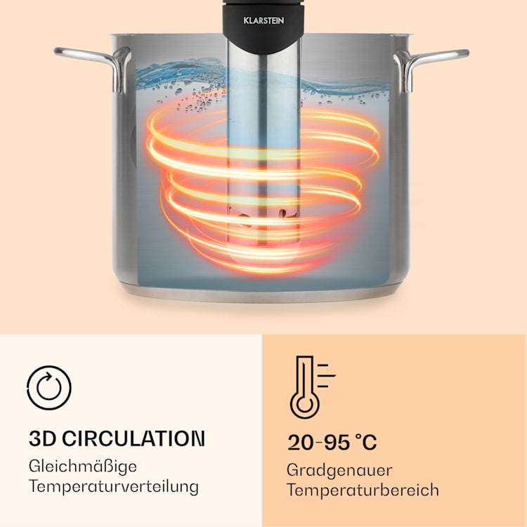 Quickstick Smart Sous Vide Pumpe 3D Circulation 20-95 °C