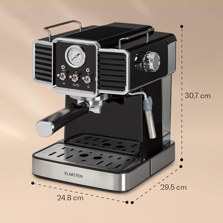 Gusto Classico, aparat za espresso, 1350 W, tlak 20 barov, rezervoar za vodo: 1,5 litra Črna