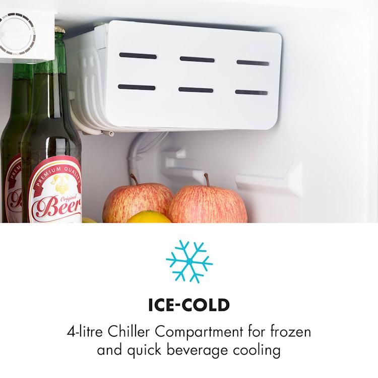 Cool Kid, mini lednice se 4 l mrazícím boxem, 66 l, 42 dB, A+, černá Černá
