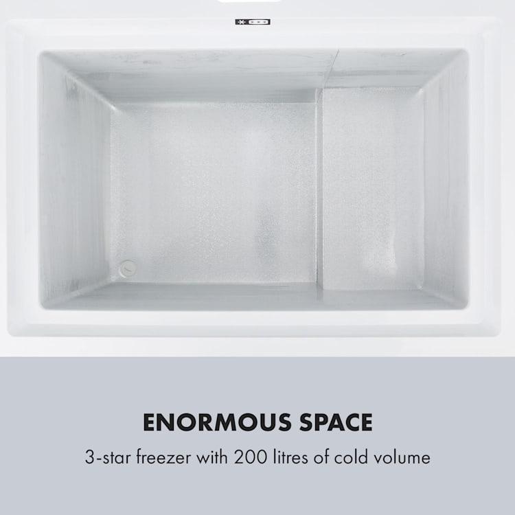 Iceblokk Eco, fagyasztóláda, A+++, 200 l, 2 felakasztható kosár, kerekek, fehér