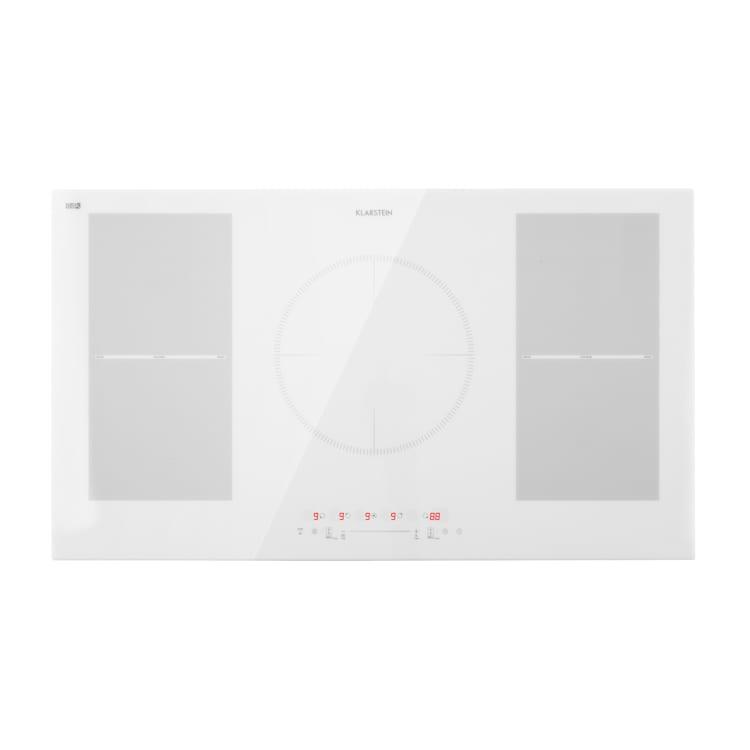 Delicatessa 90 Flex, piano cottura da incasso, induzione, 5 zone, 7000W, indipendente Bianco