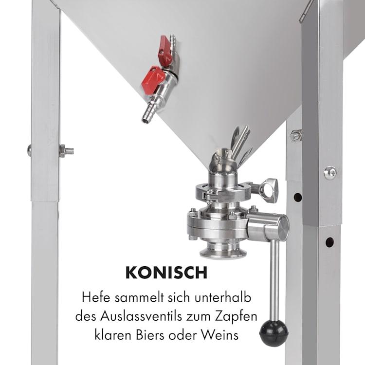 Gärkeller Pro XL Fermentierkessel 60 Liter Hefeablassventil 304-Edelstahl