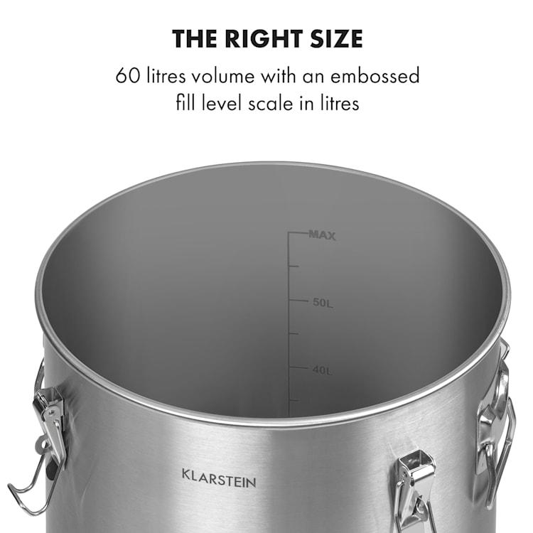 Gärkeller Pro XL käymiskattila 60 litraa hiivanpoistoventtiili 304-teräs