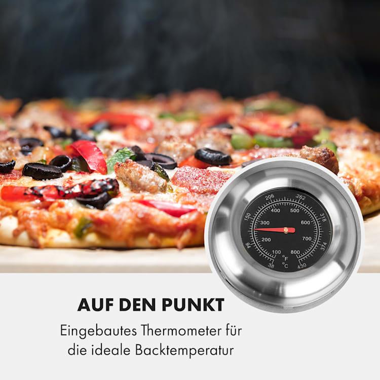 Pizzaiolo Neo Gas-Pizzaofen inkl. Pizzastein Thermometer Edelstahl