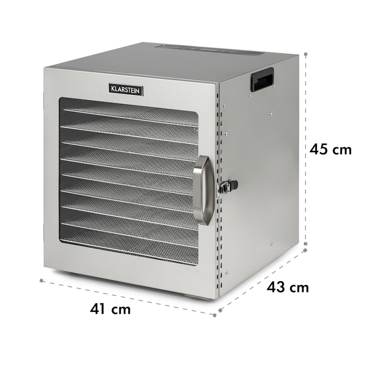 Captain Jerky 110  voedseldroger 1000W 30-90 °C 24h-timer roestvrij staal