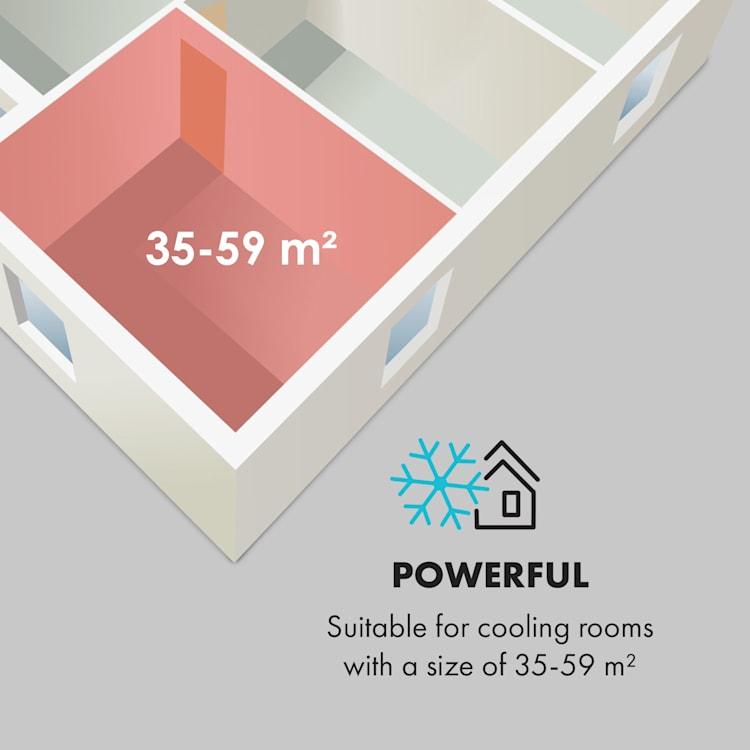 Kraftwerk Smart 12K, légkondicionáló, 3 az 1-ben, 12 000 BTU, vezérlés alkalmazáson keresztül, távirányító Pasztellkék | 12.000 BTU