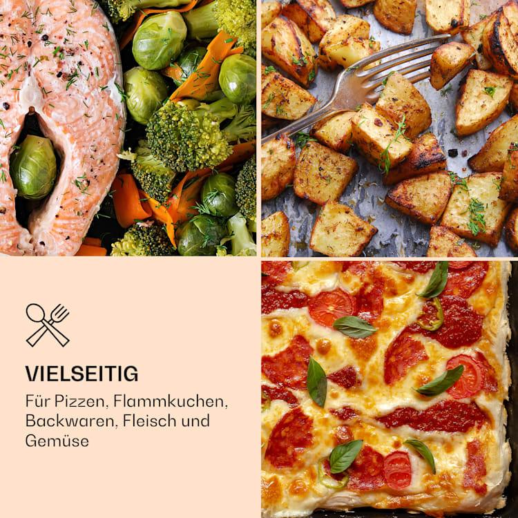 Diavolo Pizza-Pelletofen inkl. Pizzastein Thermometer Edelstahl Schwarz