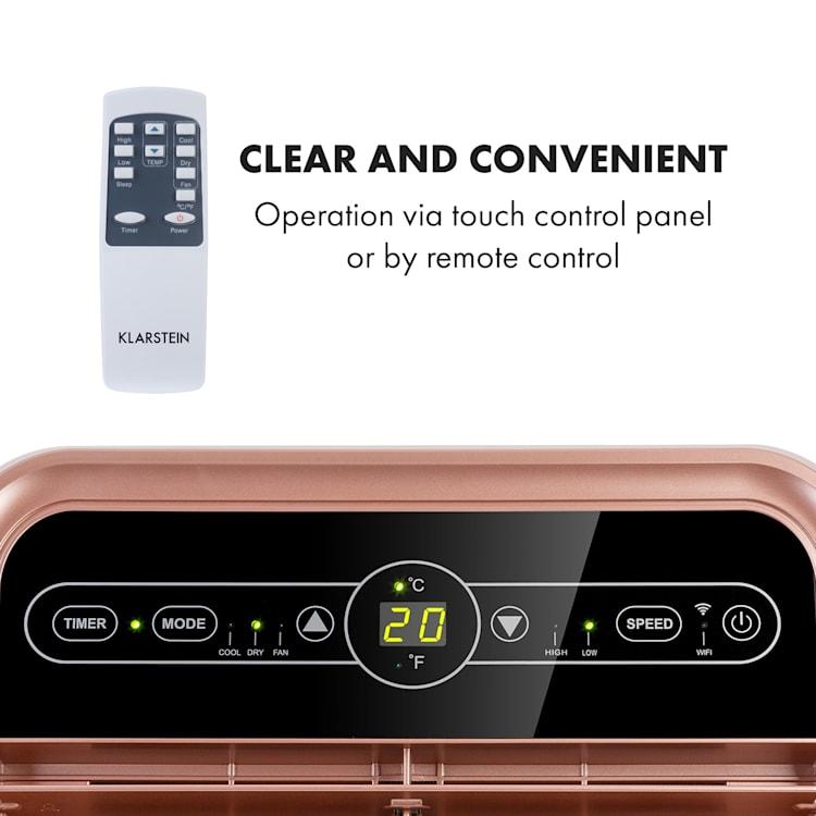 Metrobreeze New York Smart 7k, mobilní klimatizace, 7.000 BTU / 2,1 kW, energetická třída A, dálkové ovládání Coral | 7.000 BTU